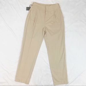 Massimo Dutti high rise pleated front chino pants